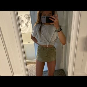 American Eagle khaki mini skirt (: